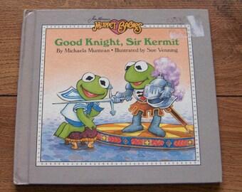 vintage 80s Muppet Babies Good knight Sir Kermit  children muppets weekly reader guc