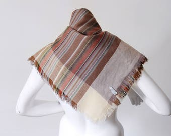 1980s Acrylic Woven Square Scarf