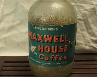 Vintage Maxwell House Glass Coffee Jar