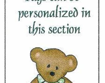 Teddy Bear Baby Shower Favor Tags ~ H247