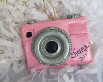 New for 2017... personalized original camera ornament, camera, photo, photographer