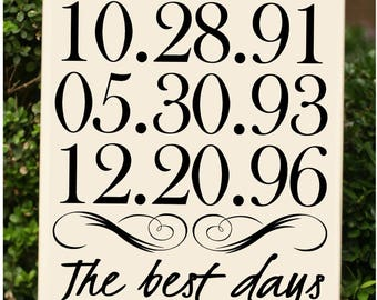 The best days of our lives / custom family sign / personalized wood sign