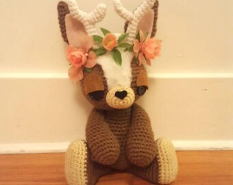 Jackalope Amigurumi Pattern - Cryptozoology - Rabbit - PDF - Instant Download
