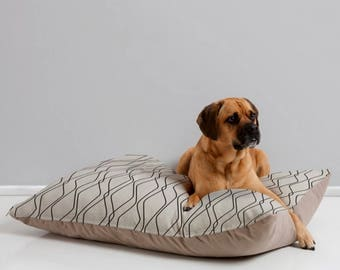 Modern Dog Bed Pillow // Minimalist Geometric Design // Pet Bedding // Animal Pillow // Modern Geometric Pet Bedding // Fuge Stone Design