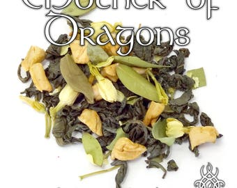 Game of Thrones Tea, Mother of Dragons, loose leaf green tea, Daenerys Targaryen, fruit tea, dessert tea, Game of Thrones gift, fandom tea