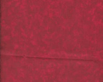 """1 Yard 44"""" Wide Mottled Dark Red 100% Cotton Fabric Quilting, Apparel, Home Accessories"""