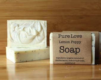 Cold Pressed Soap/ Lemon Poppy Soap