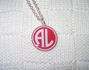 University of Alabama fan pendant red and white bama necklace for her