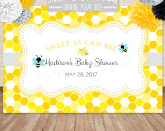 PRINTED Bumble Bee Honeycomb Posters or Backdrops, Meant to Bee, Ba-bee shower, Bee-day, Customized w/ Your Wording, Printed & Shipped