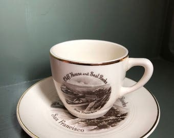 Vintage Souvenir Cup and Saucer from San Francisco