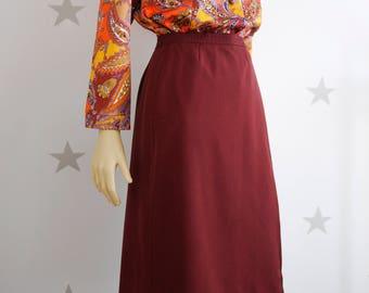 vintage envelope skirt, vintage skirt,