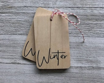 Winter Wood Tag