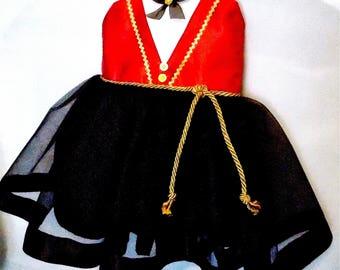 Circus Tutu Dress: black red and gold dress, circus birthday party, ringmistress dress, ringmaster dress, halloween costume