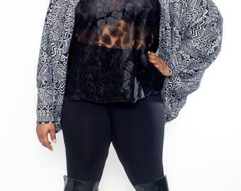 Oversize Turtle Neck Sweater Shrug - One Size