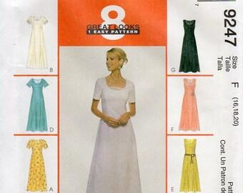 1990s Dress Pattern - Vintage McCall's 9247 - Size 16 18 20 Bust 38 40 42 UNCUT FF Princess Seams