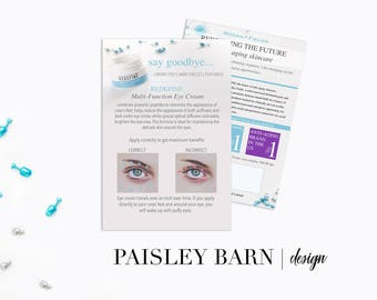 Eye Cream Marketing CARDS with Application Tips 5x7 | Skincare business  Rodan+Fields personalized | R+F anti-aging flyers flyer