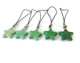 Various Green Star Purse Charms for Zipper Pull, Small Green Charm for Purses or Backpack Charm, Pretty Green Star Charm Gift for Women