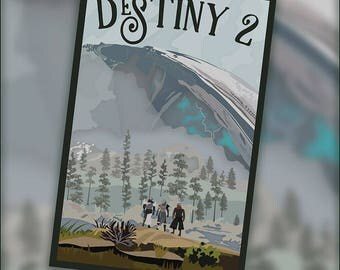 ON SALE!!  Destiny 2 - 12x18 Limited Edition Poster
