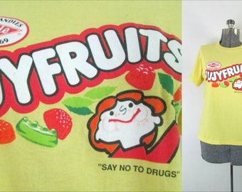 Jujyfruits Vintage Tee / Say No To Drugs T Shirt / Retro Heide Candy