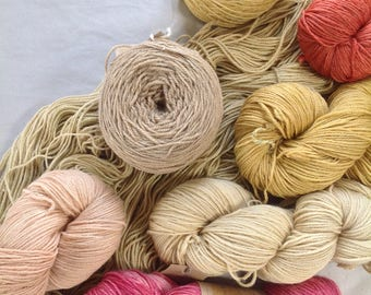 RAMIE WOOL PALETTE ~ Colours by nature ~ sock yarn plant dyed