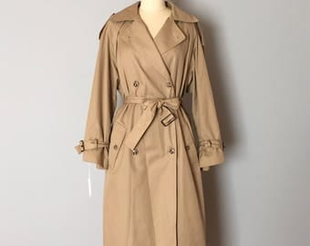 nude khaki trench coat | double breasted princess coat | 1940s inspired belted Marlene Dietrich trench coat