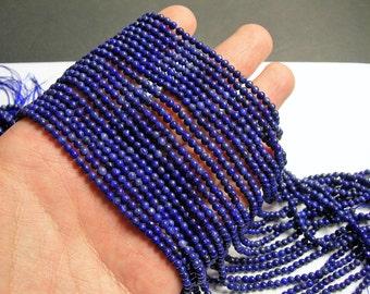 Lapis Lazuli 3mm(3.2mm) - round - full strand - 122 beads - PG63