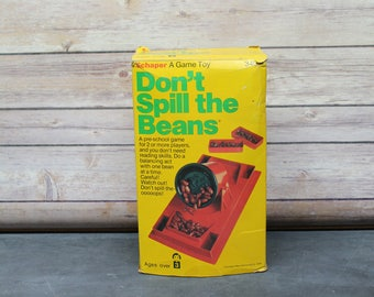 1978 Don't Spill The Beans Game, Schaper A Game Toy, Preschool Game, Complete