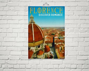 Italy Art 18x24 Poster Fine Art Print FLORENCE Il Duomo Cathedral City Wall Art Architectural Print Cityscape Art