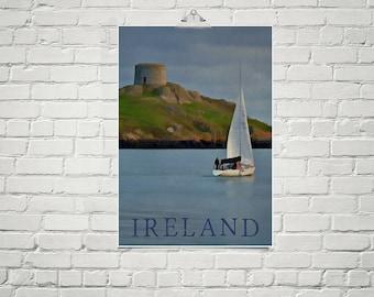 Irish Art 18x24 Poster Fine Art Print Ireland Sailboat Wall Art Nautical Decor Vintage Style Travel Poster