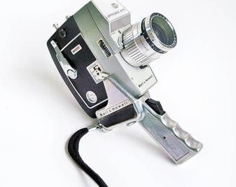 1960s Bell & Howell Model 416 Directors Series 8mm Movie Camera with Case, Pistol Grip and Manual