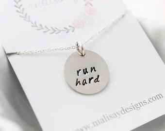 run hard necklace