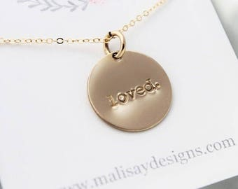 loved necklace • gold