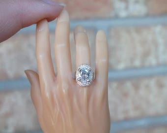 1/3 SD BJD Oval Diamond Ring
