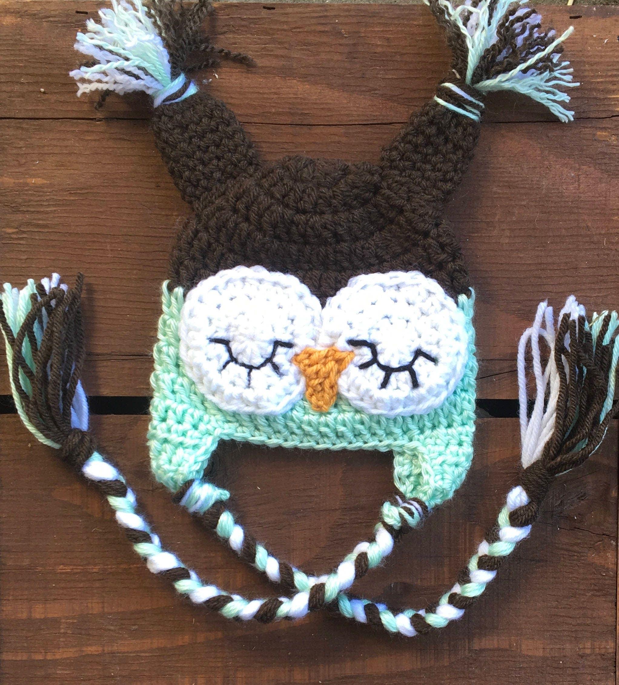 crochet baby hat infant owl hat baby halloween hat newborn halloween hat