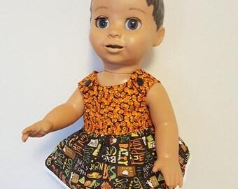 Luvabella Doll Clothes - Halloween Pumpkin Dress