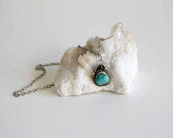 Navajo Signed Turquoise Necklace
