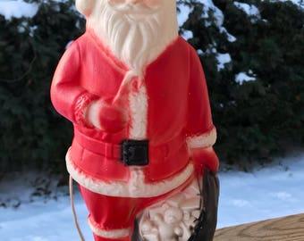 Vintage Santa Claus / Blow Mold / Vintage Christmas Decoration / 1950s Christmas / Santa Claus Blow Mold / Christmas Light / Retro Santa /