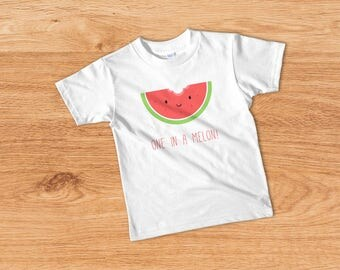 One in a Melon, Funny Kids T-shirt, Cute Kids Tee, Trendy Toddler Tee, Funny Toddler Outfit, Funny Toddler Boy Shirt, Toddler Girl Top