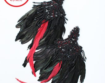 Xmas in July Sale Ready to Ship Miyu Decay Feather Epaulettes Fascinators
