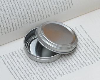 50ml metal tins, blank round tin boxes, press to open tin box, small diy storange box, 100 tin box