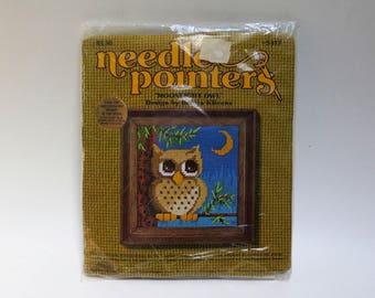 Moonlight Owl Needlepoint Kit by Sunset Designs