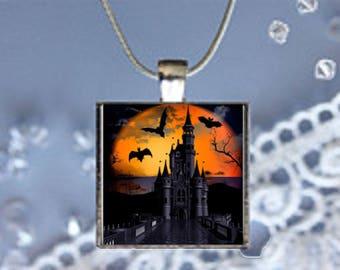 Pendant Necklace Haunted Castle