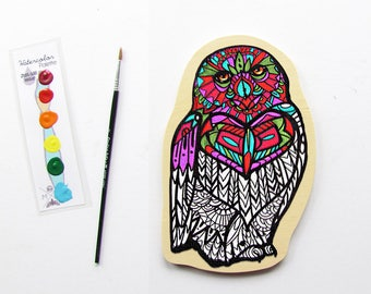 Owl Ciy Painting Art Kit- Snowy Owl Coloring Book