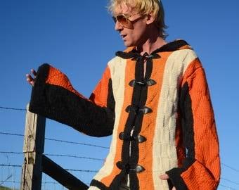 Knit Sweater Hoodie 100% Alpaca High Fashion Knit