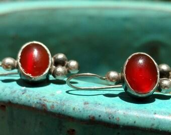 Sterling Silver Earrings, Tribal Jewelry, Tribal, Amber Earrings, Amber, wedding Jewelry, steampunk jewelry, dangle Earrings, orange,pumpkin