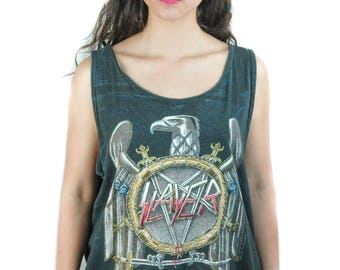 Vintage Slayer shirt 1990 Tank Top Concert shirt Band Tee Slayer Tank Top Slayer Tee