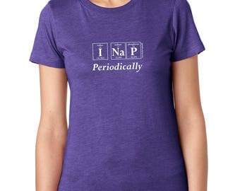 Periodic Table I NAP PERIODICALLY Women's T-Shirt by Periodically Inspired - Scoopneck, Super-Soft Tri-Blend Tee, Vintage Purple