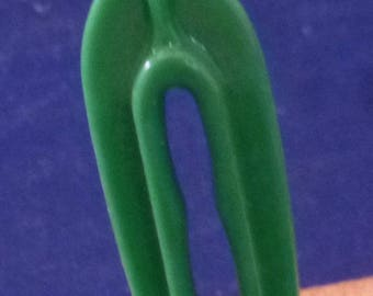 Vintage Rogers Clean-Grip Cat Clothespin (green), 1950s