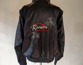 Riviera Hotel & Casino Las Vegas Embroidered Silky Jacket Top