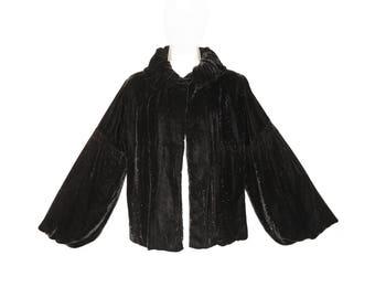 Vintage Velvet Jacket, Flapper, Iridescent Velvet, Luxurious Art Deco, 1920s